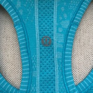 lululemon athletica Tops - Blue striped lulu top in great condition